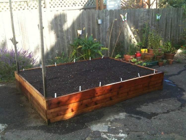 6. DIY Redwood Garden Box
