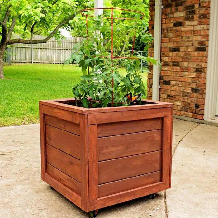 6. How To Make A Rolling Planter Box