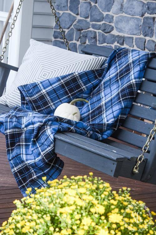 7. Cozy Flannel Blanket DIY