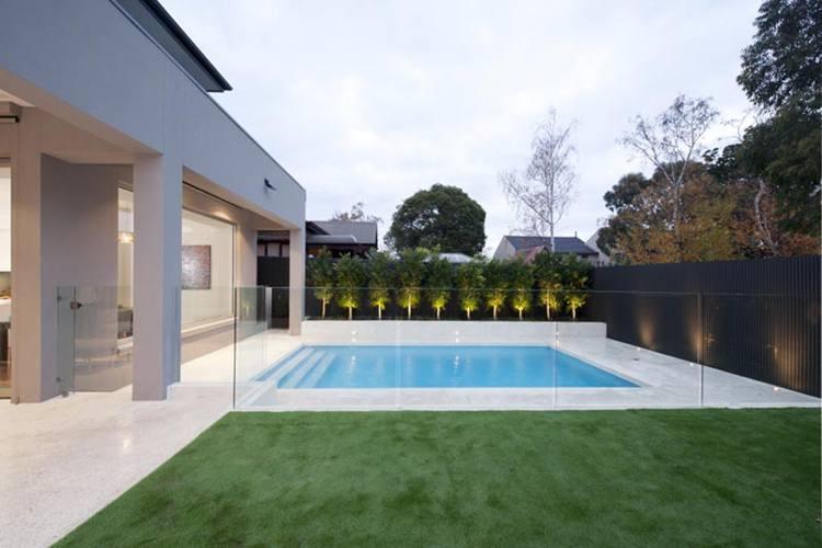 7. DIY Glass Pool Fencing