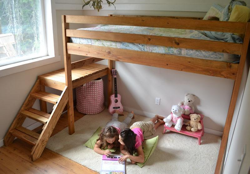 7. DIY Loft Bed With Stairs
