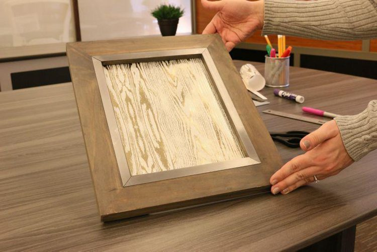 7. DIY Office Dry Erase Board