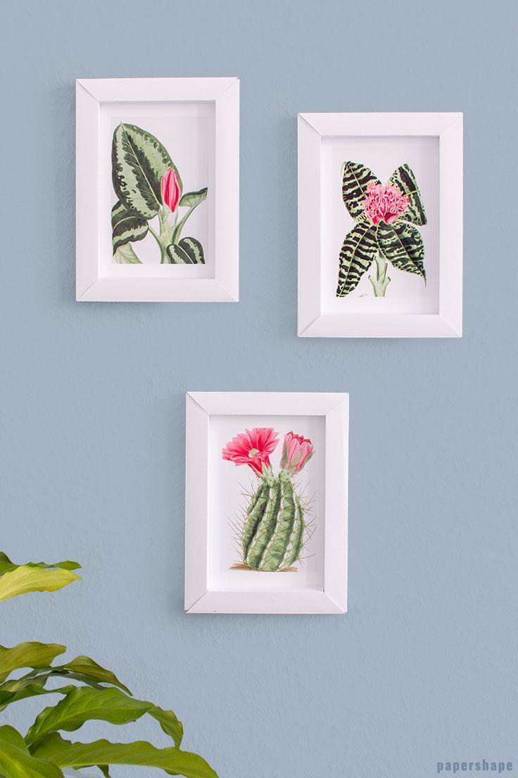 7. DIY Paper Photo Frame