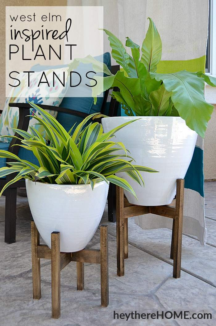 7. West Elm Inspired Plant Stand