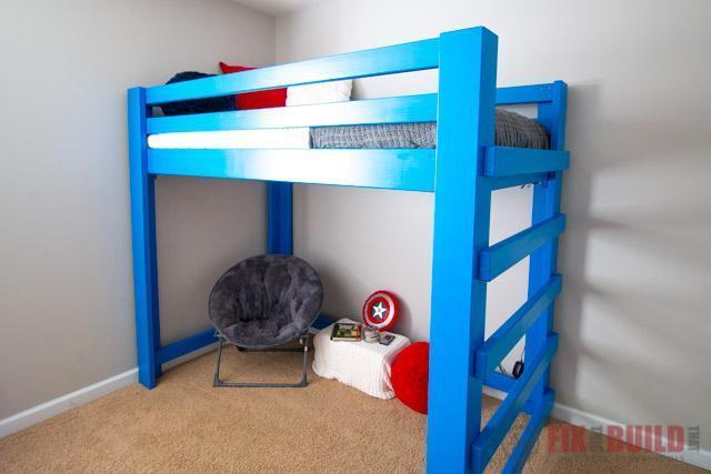 8. DIY Loft Bed