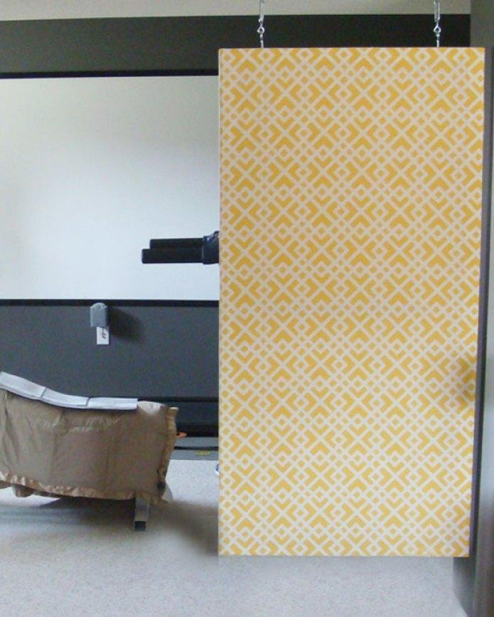 8. DIY Room Divider With Fabric
