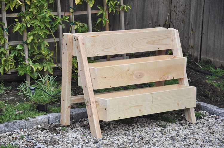 8. DIY Tiered Strawberry Planter