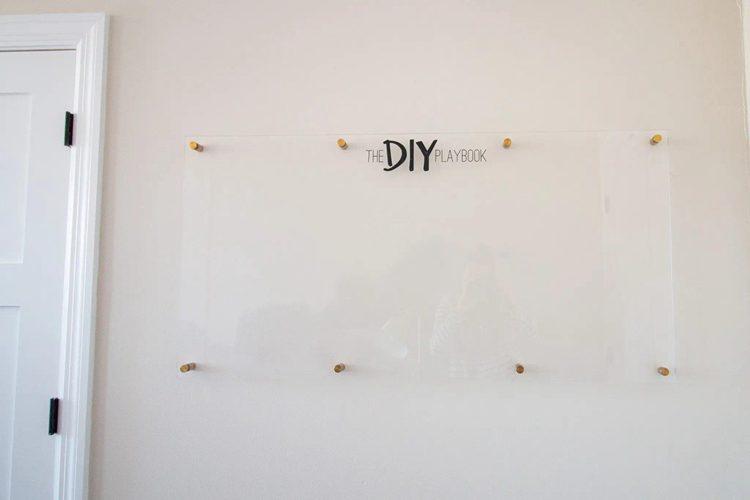 9. DIY Acrylic Dry Erase Board