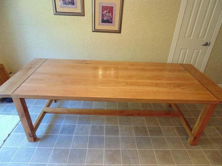 9. DIY Cherry Farmhouse Table