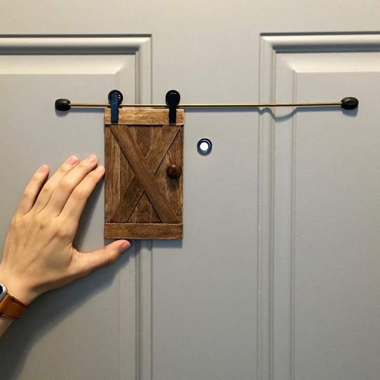 32. DIY Little Barn Door For Home Security