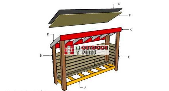 1. DIY Free Wood Shed Plans