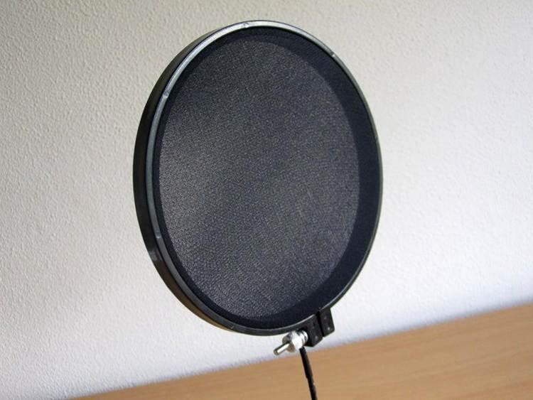 1. DIY Microphone Pop Filter