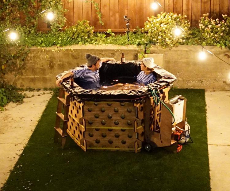 1. DIY Portable Hot Tub