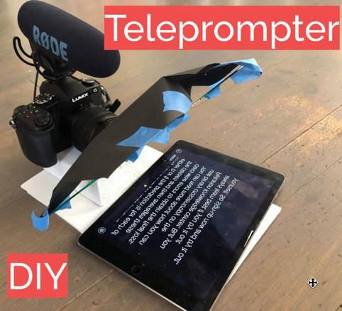 1. Teleprompter DIY