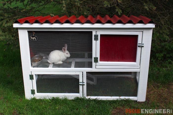 10. DIY Rabbit Hutch Plans