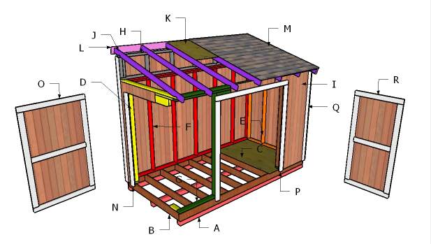 11. 6x12 Lean To Shed Plans