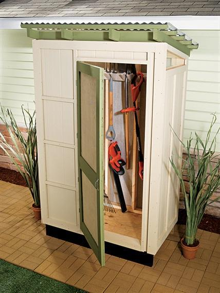 11. DIY Wood Shed For Storage