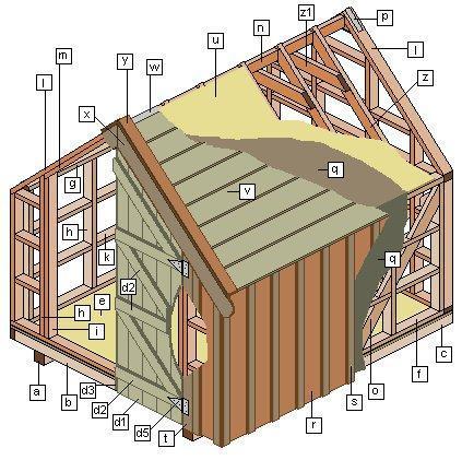 12. DIY Backyard Shed With Wood