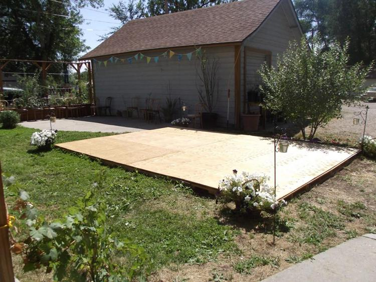 12. DIY Dance Floor From Recycled Pallets