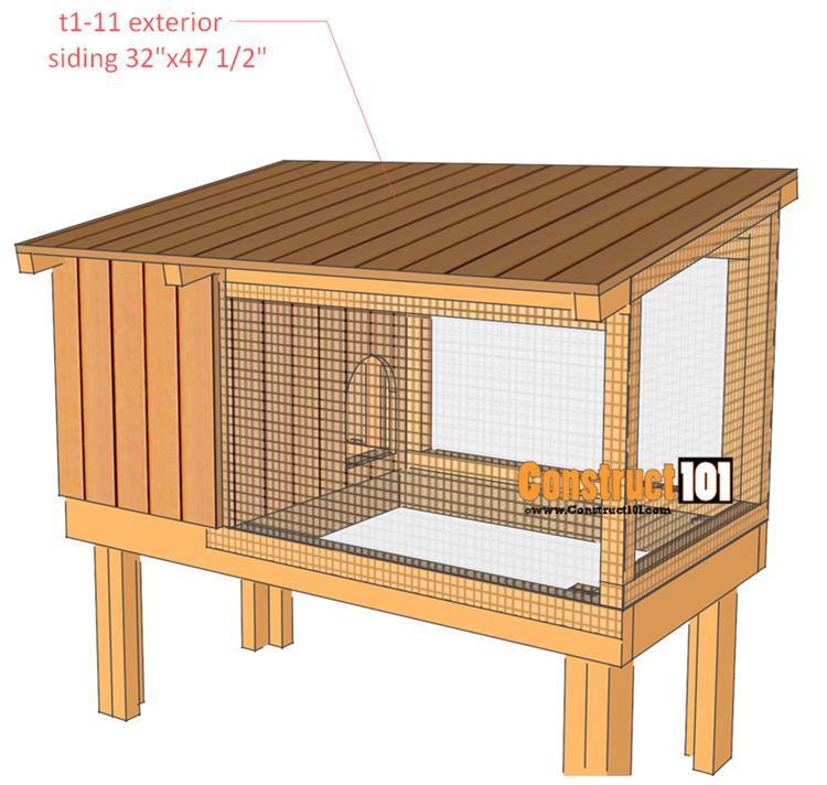12. DIY Rabbit Hutch Plans