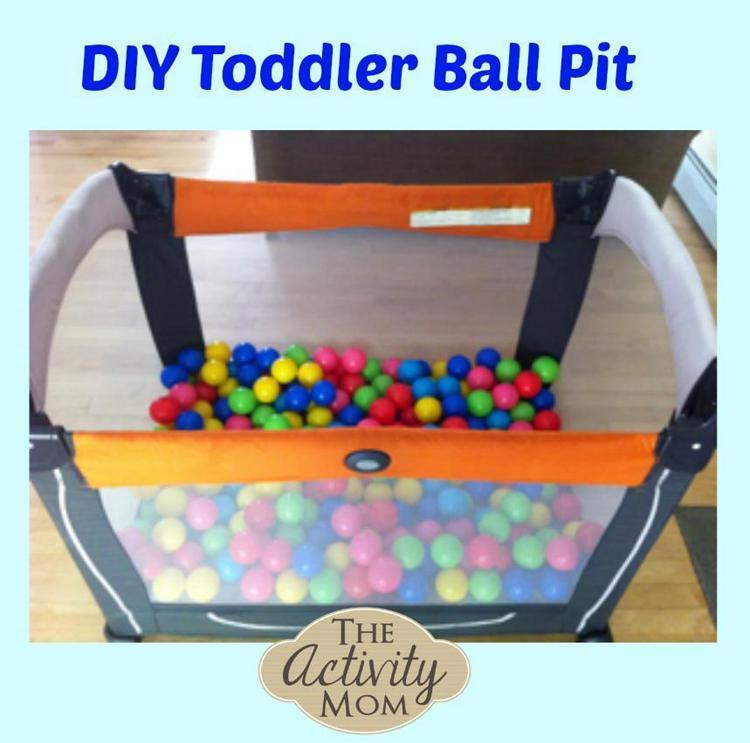 13. DIY Toddler Ball Pit