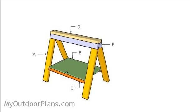 13. Folding Sawhorse Plans