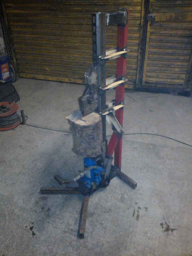 14. DIY Foot Operated Log Splitter