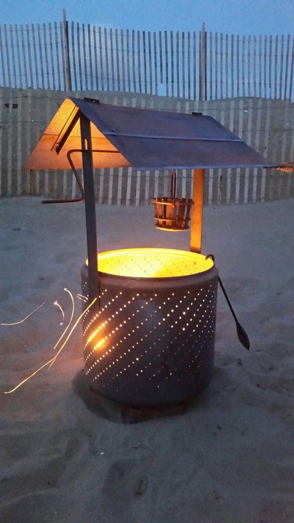 14. Wishing Well Burn Barrel DIY