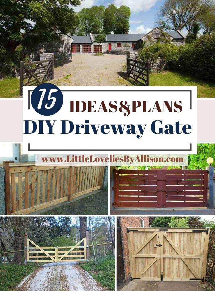 15 DIY Driveway Gate Ideas_ How To Build A Driveway Gate