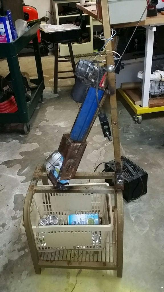 15. DIY Can Crusher From Crap