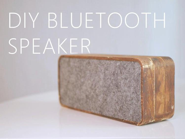 15. DIY Wooden Bluetooth Speaker