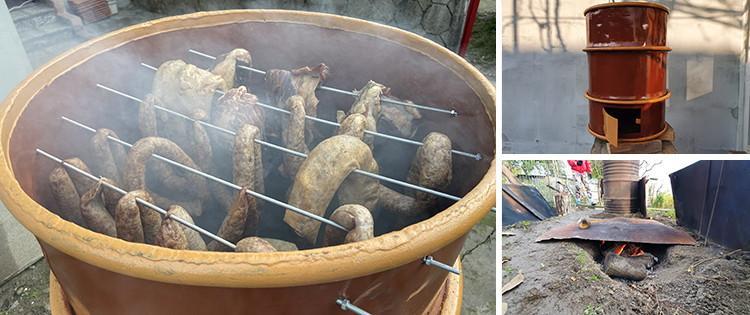 16. DIY Smokehouse In A Barrell