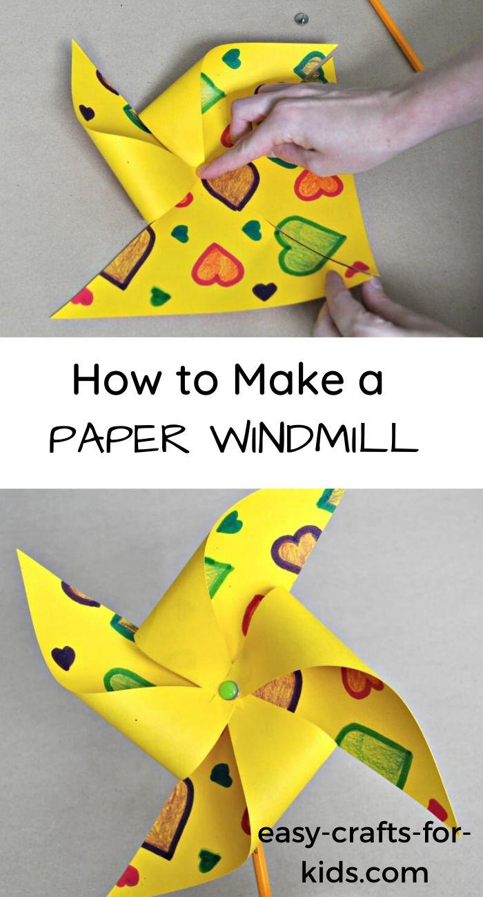 16. Paper Windmill Craft For Kids