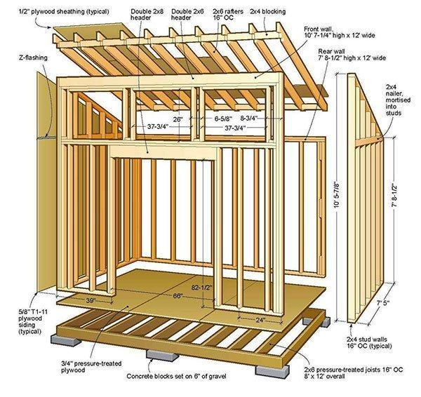 17. 8x12 Lean To Shed Plans