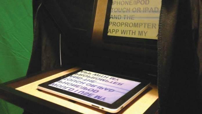 18. DIY Tablet Teleprompter