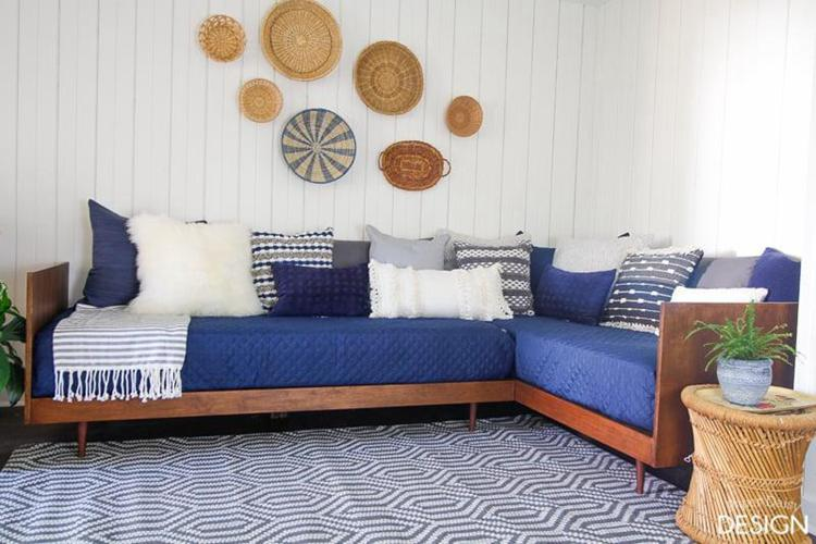 18. Plywood Midcentury Daybed DIY