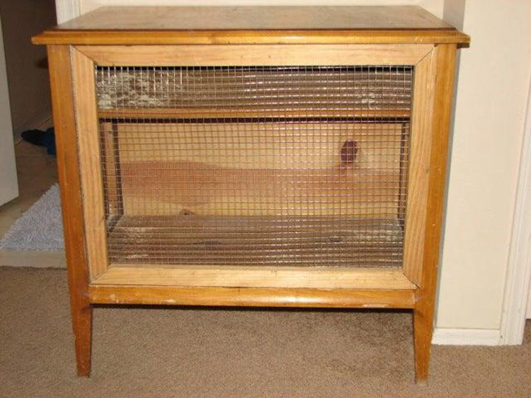 19. Convert End Table To Rabbit Hutch