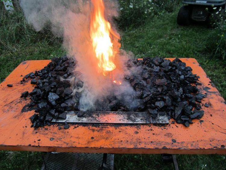 19. Homemade Coal Forge