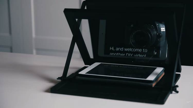 2. DIY Cheap Teleprompter
