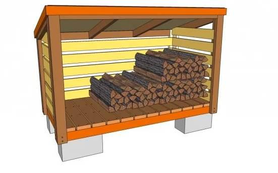 2. DIY Firewood Shed Plans