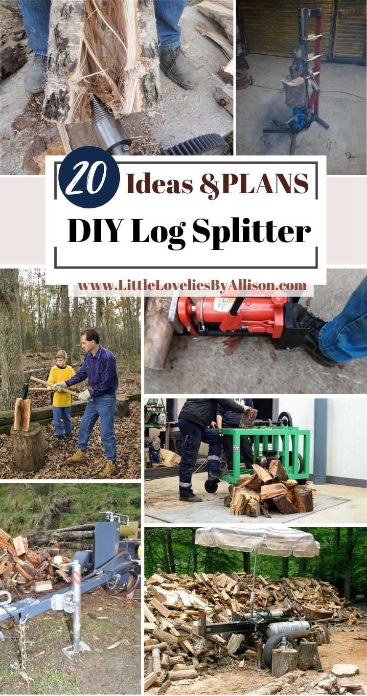 20 DIY Log Splitter Projects_ Do It Yourself Easily