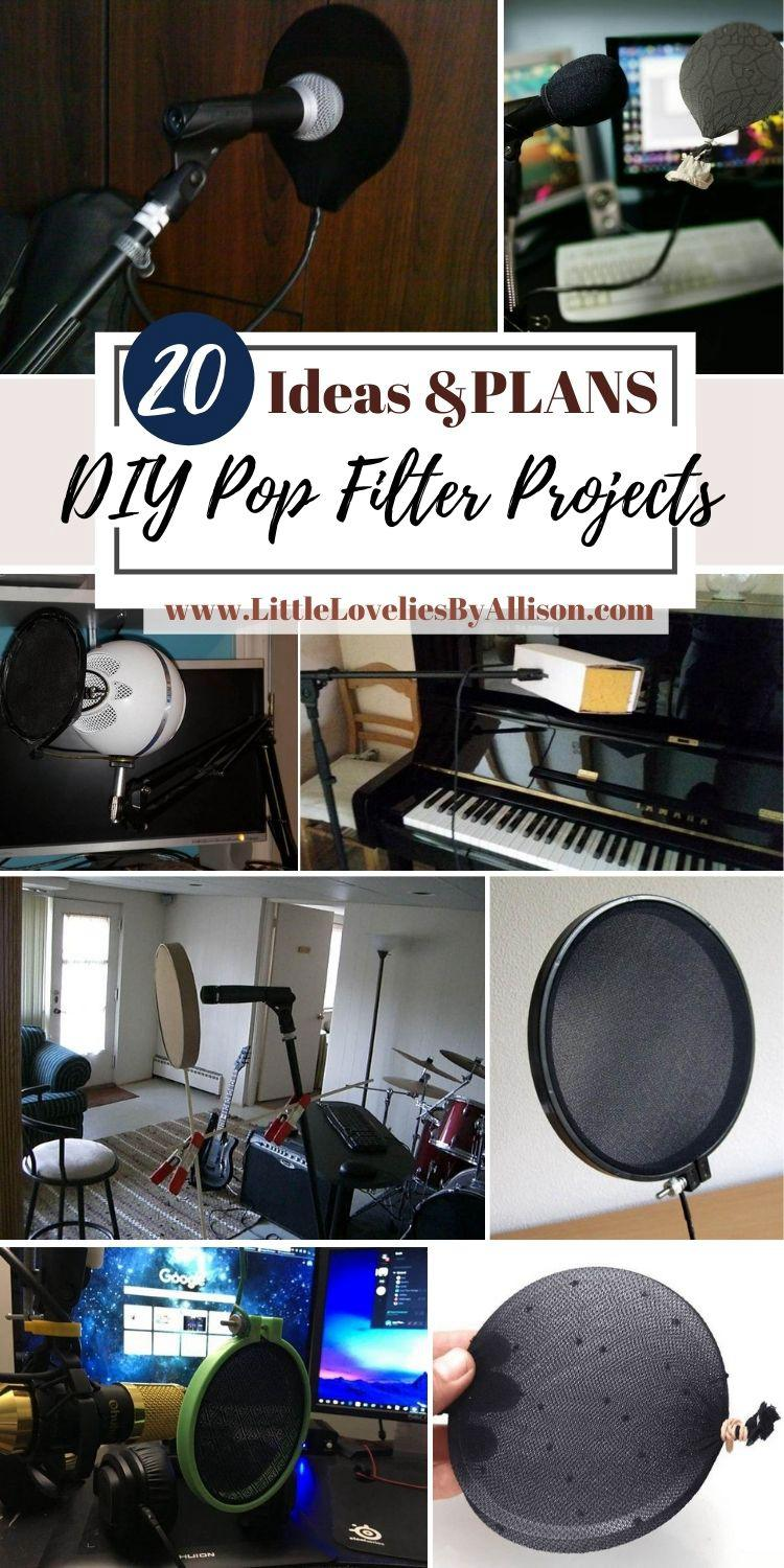 20 DIY Pop Filter Projects_ How To Make A Pop Filter That Works