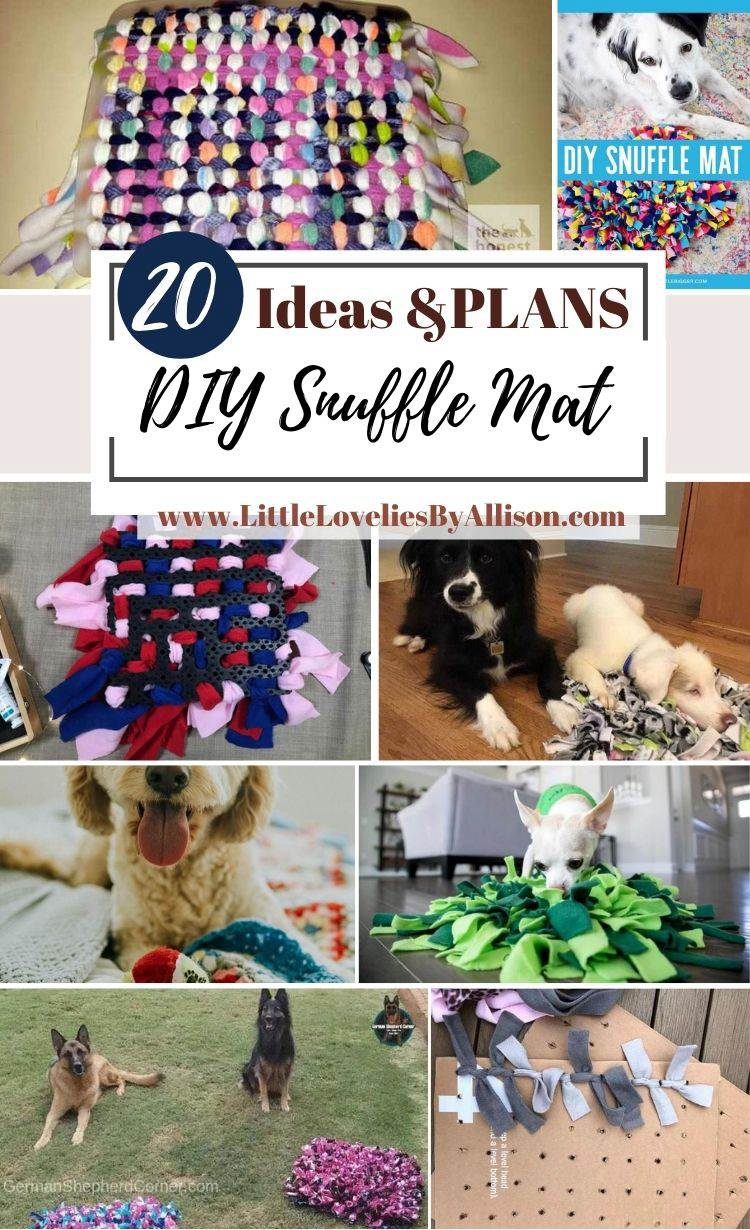 20 DIY Snuffle Mat Ideas That Every Dog Will Love