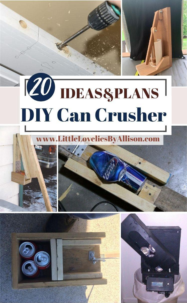 20 Ways To Build A DIY Can Crusher From Home