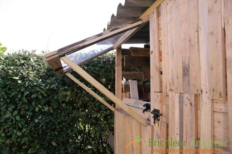 20. Garden Shed Made With Pallets