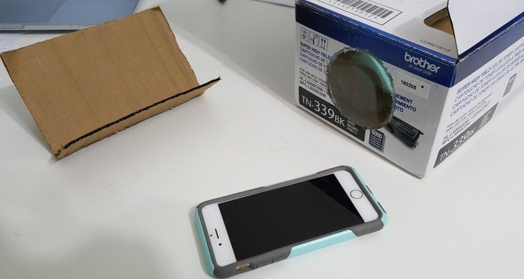 20. Homemade Phone Projector