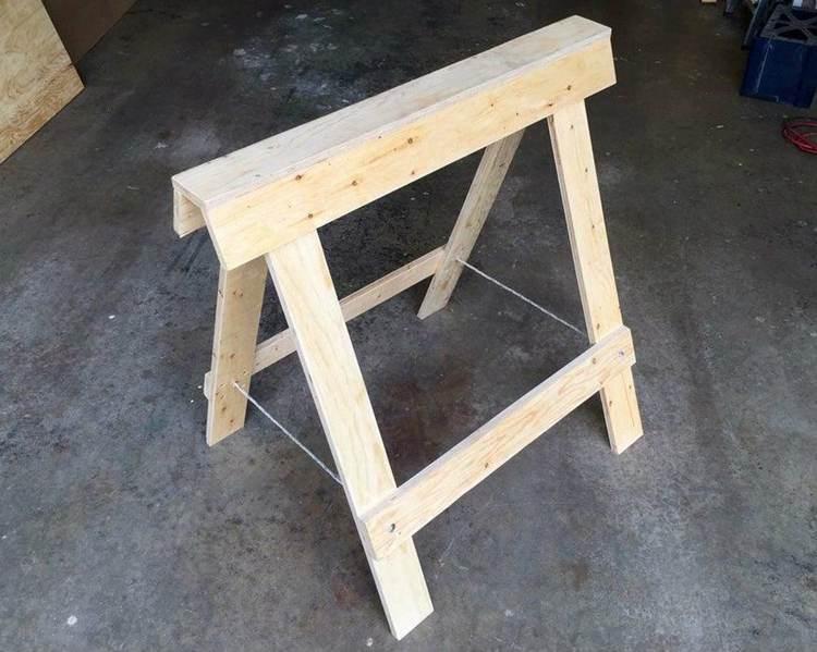 21. DIY Folding Plywood Sawhorse