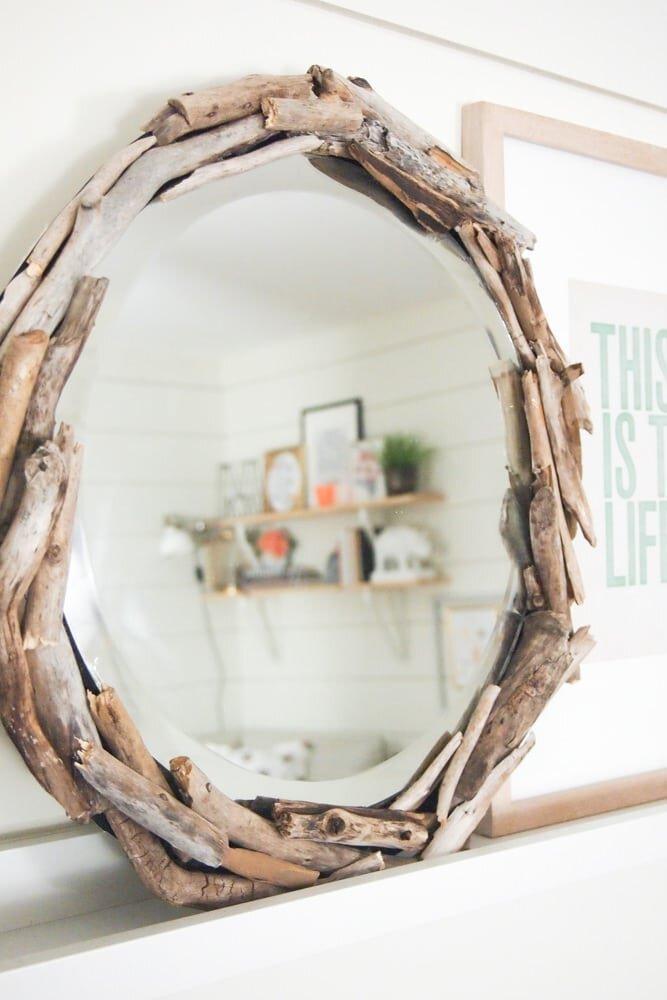 22. DIY Driftwood Mirror