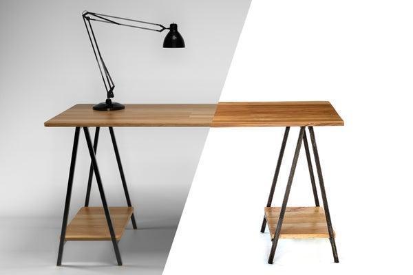 22. DIY Folding Sawhorse Desk