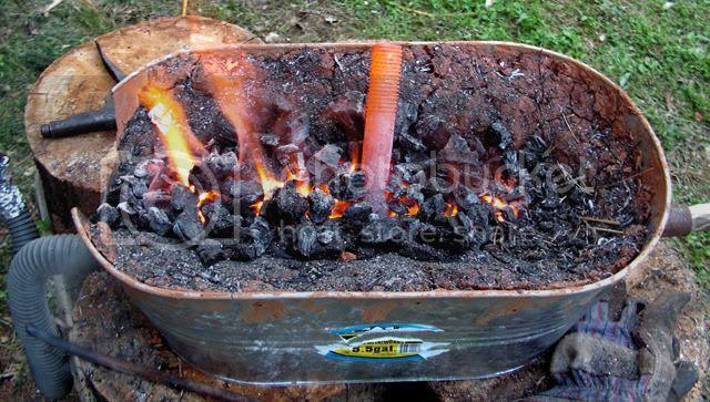 23. DIY Charcoal Forge